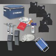 Yamaha Boat Starter Kit Life Vest Rope Throw Cushion Air Horn First Aid Kit All