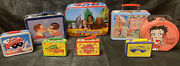Lot Of 8 Metal Lunchboxes Lone Ranger Wizard Of Oz Candy Land Betty Boop Etc