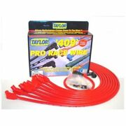 Taylor 79232 Spark Plug Wires 409 Pro Race Spiro-wound 10.4mm Red 135 Deg. New