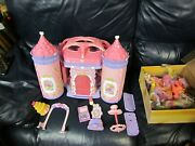 Vintage 2005 My Little Pony Crystal Rainbow Castle With Ponies