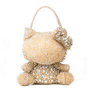 Hello Kitty X Anteprima Gold Silver Hand Bag Wire Small Bag From Japan