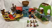 Huge Lot Of Jake And The Neverland Pirates Sets Ship Figures Disney Peter Pan