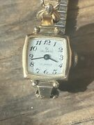 Vintage 10k Rolled Gold Plate Ladies Helbros Watch 17 Jewels Running Wind Up 125