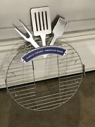 """Metal Restaurant Or Food Truck Grill And Utensil 2 Sided Sign Advertising 35x25"""""""