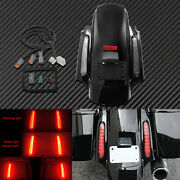 Rear Fender W/turn Signal Running Light Red Lens Fit For Harley Touring 09-13