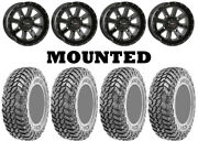 Kit 4 Cst Apache Tires 30x10-14 On System 3 St-4 Gloss Black Wheels Can