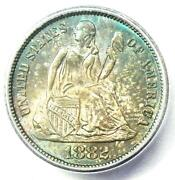 1882 Seated Liberty Dime 10c Coin. Certified Icg Ms66+ Plus Grade - 1,000 Value