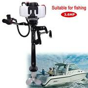 Electric One-button Start Heavy Duty Outboard Boat Engine W/air Cooling System