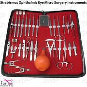 Surgical Strabismus Ophthalmic Eye Micro Surgery Instruments Set Of 29 Pcs Ce