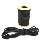 Usa 1/2 X 50and039 Bungee Cord Shock Cord Bungie Cord Marine Grade Stretch Cord Blk