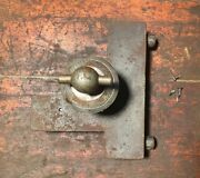 Antique Early Victor Safe And Lock Co. Complete Combination Dial Mechanism 1800s