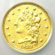 1839-c Classic Gold Quarter Eagle 2.50 - Ngc Xf Details Ncs - Charlotte Coin
