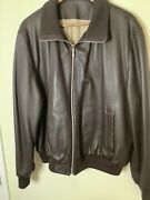 Mens Brioni Leather And Cashmere Bomber Jacket Xl