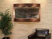Calming Waters-copper Vein-silver-mirror Wall Fountain New