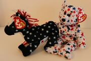 Ty Beanie Baby Lefty 2000, Red, White And Blue 2002