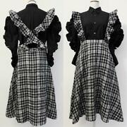 Comme Des Garons Ruffle Shirt And Apron Dress Set Size S F/s From Japan