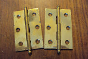 Abi Polished Brass Butt Hinge 3 X 2 Nos Removable Pin Pair 1940br Hinges