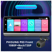 Android 8.1 Adas 8in Full Screen Car Dash Cam Gps Wifi 4g With Rear View Camera