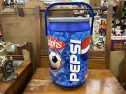 Pepsi Ralphs Soccer Can Shaped Cooler