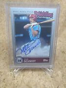 2020 Brooklyn Collection Topps Mike Schmidt Silver 1/1 Auto Phillies