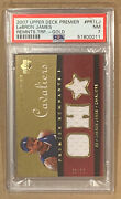 Lebron James 23/50 Psa Near-mint Nba Certified Game Used Upper Deck Gold