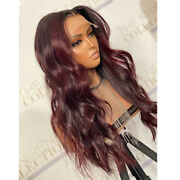 Ombre 99j Soft Wave 5x5 Pu Silk Top Human Hair Wigs Ombre 4x4 Wave Lace Wig