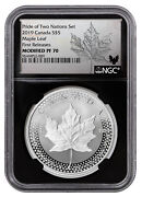 2019 Canada 1 Oz Silver Maple Leaf From Pride Of Two Nations Set Ngc Pf70 Fr Bc