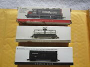 Locomotive Sp + Stock Car + Tank Car N Scale High Speed Metal Products 14