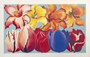 Lowell Blair Nesbitt Island Of Flowers Screenprint Signed And Numbered In Pen