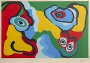 Karel Appel, Sunny Beach Life, Lithograph On Arches Paper, Signed, Numbered, And