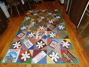 Daisy Applique Quilt Handmade Square In A Square Pattern Tlc