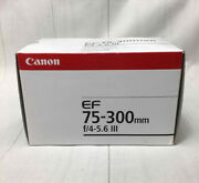 New In Box Canon Ef 75-300mm F4-5.6 Iii Usm Zoom Lens