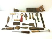 Mixed Antique And Vintage Lot Used Wood Corsair Miter Saw Unusual Strop Hand Tools
