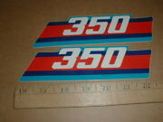 Pair 350mx 350 1985 1986 Ktm Motocross Racing Motorcycle Factory Decal Stickers
