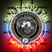 Neon Signs Old Rasputin Never Say Die Beer Bar Pub Store Party Room Decor 24x20
