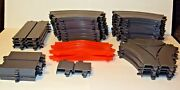 Lot Of 36 Ideal Motorific Racerific Track Replacement Parts Straight Curved