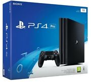 Sony Playstation 4 Pro - Ps4 Console [1tb 4k Hdr Dualshock Jet Black] New