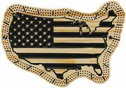 United States Cribbage Board - Handmade And Carved - Usa