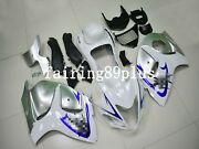 Silver White Abs Injection Fairing Kit Fit For 2008-2016 Gsxr1300 Busa Gen 2