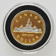 1987-2017 30th Anniversary Of The Loonie Dollar Canadian Canada Gold Voyageurs