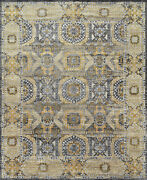 Modern Village Mamluk Rug 12and039x15and039 Dark Grey/brown Hand-knotted Wool Pile