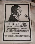1964 Civil Rights Rally Poster Dick Gregory Milwaukee Wi Sncc Freedom Singers