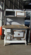 Antique Wood Burning Cook Stove A Couple Flaws Mostly Good Condition