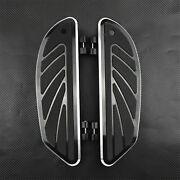 Airflow Rider Footboard Insert Kit Fit For Harley Touring Flht Softail Fl 86-up