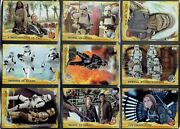 2016 Topps Rogue One S1 Gold Parallel Base Card Near Complete Set Of 86 /50