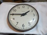 Vintage Simplex 13.5 Wall Clock School Industrial Glass Dome - Untested