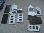 Lot Of 2 Vintage O Scale Plasticville Brown And White Church Buildings