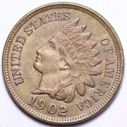 1902 Indian Head Small Cent Penny Choice Unc Free Shipping E184 Anx