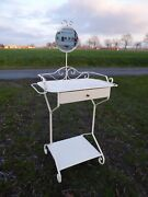 Antique Metal Vanity Makeup Table Coiffeuse French Bathroom Furniture Cabinet