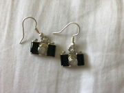 Old Fashioned Style Black Camera Drop Earrings On French Wires 1/2andrdquox3/8andrdquo Nwot